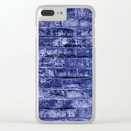 Seamless Background Brick Wall Clear iPhone Case