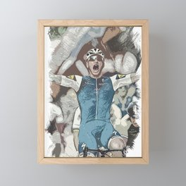 Peloton Pro Cyclist World Tour Rider Framed Mini Art Print