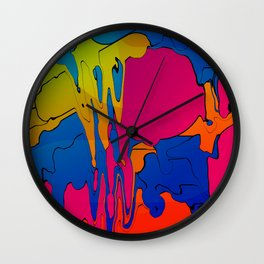 Future Painted Wall Clock