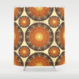 Rust-Art / mandala-style-rust Shower Curtain