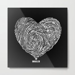 heartprint Metal Print