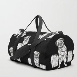 Pug Lift in Black Duffle Bag