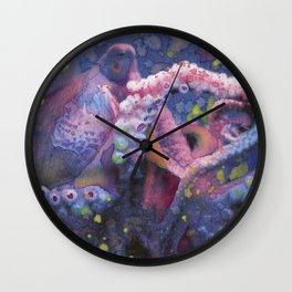 """Octopus Fine Art Print Reproduction Watercolor """"Tentacles"""" Squid, Kracken, Aquatic Art Wall Clock"""