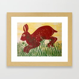 Leaping Hare Framed Art Print
