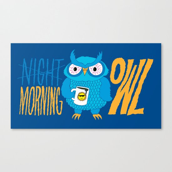 Morning Owl Canvas Print