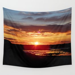 Ground Level Sunset Wall Tapestry