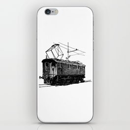 Old City Tram Carriage Detailed Illustration iPhone Skin