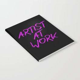 Artist at Work (pink) Notebook