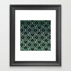 BOHO PAISLEY IN MINT Framed Art Print