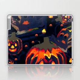 Spooky Night of Ghost and Jackolanterns by Lorloves Design Laptop & iPad Skin