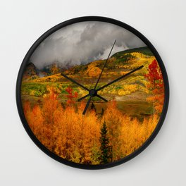 Autumn Scene at Crested Butte, Colorado Wall Clock
