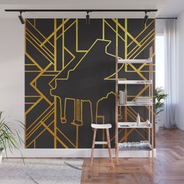 Art Deco Piano Wall Mural