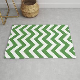 May green - green color - Zigzag Chevron Pattern Rug