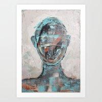 Faceless Abstract Portrait Art Print