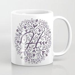 H - monogrammed initial H print Coffee Mug