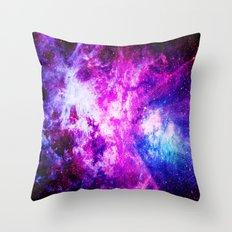 Purple Blue nebuLA Throw Pillow