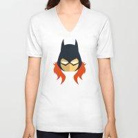 batgirl V-neck T-shirts featuring Batgirl by Oblivion Creative