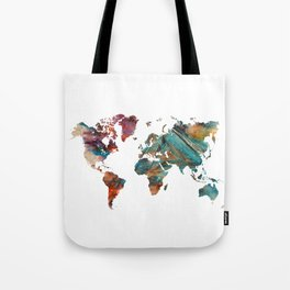 Map of the World triangle Tote Bag