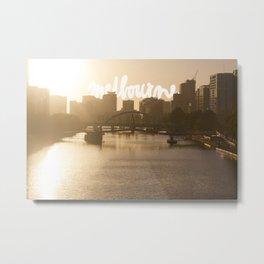 Melbourne skyline Metal Print