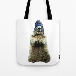 Wooly Marmot by Crow Creek Coolture Tote Bag