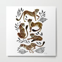 Cheetah Collection – Mocha & Black Palette Metal Print