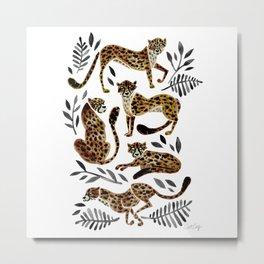 Cheetah Collection – Mocha & Black Palette Metal Print
