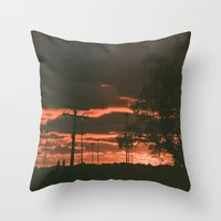 detroit Throw Pillows featuring Detroit by Amber Hewitt