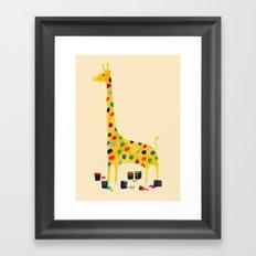 Paint by number giraffe Framed Art Print