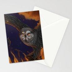 Solar owls titan Stationery Cards