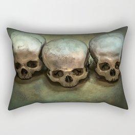 Three human skulls Rectangular Pillow