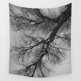 Lungs of the Earth | Nature Photography | Weeping Willow | Black and White | black-and-white | bw Wall Tapestry