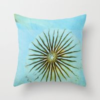 transparent Throw Pillows featuring Transparent-Sea by Bella Blue Photography