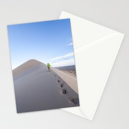 Footsteps in Gobi Stationery Cards