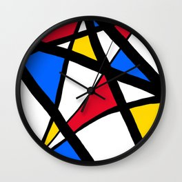 Red, Yellow, Blue Primary Abstract Wall Clock