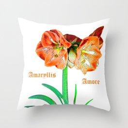 Amaryllis Amore Throw Pillow