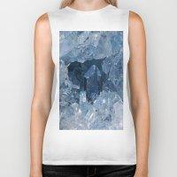 minerals Biker Tanks featuring Blue Gemstone by Kristiana Art Prints