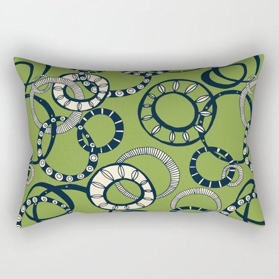 Honolulu hoopla green Rectangular Pillow