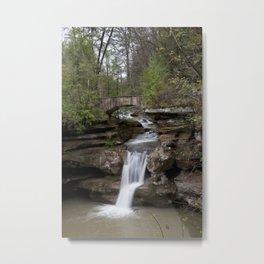 Waterfall at Old Man's Cave Metal Print
