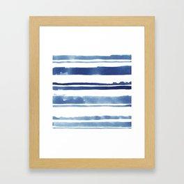 Watercolor Stripe Framed Art Print