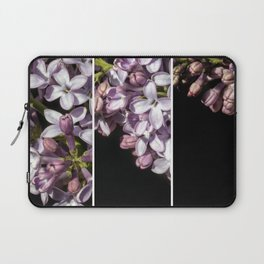 Lilac Bouquet Triptych One Laptop Sleeve