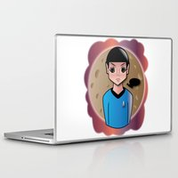 spock Laptop & iPad Skins featuring Spock by hannahroset