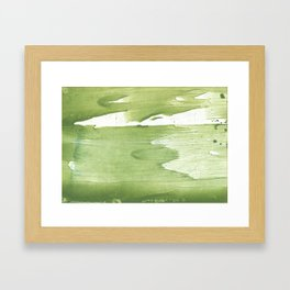 Green khaki clouded wash drawing texture Framed Art Print