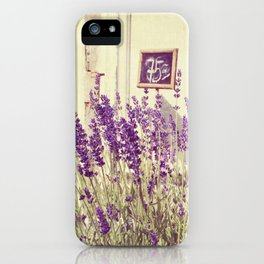 Lavender // Flower Market iPhone Case
