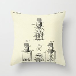 Automatic Fire sprinkler-1888 Throw Pillow