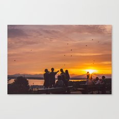 Sunset in Seattle Canvas Print