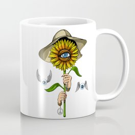 Psychedelic Sunflower Hippie Coffee Mug