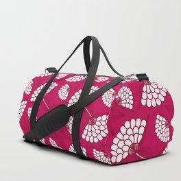 African Floral Motif on Magenta Duffle Bag