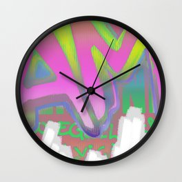 To Be Or Not To Be In Pink Wall Clock