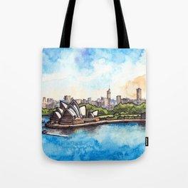 Sydney ink & watercolor illustration Tote Bag