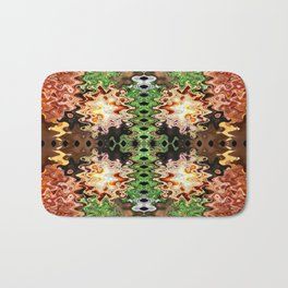Copper Brown Green Poof Abstract Bath Mat